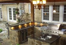 Pool houses and outdoor kitchens