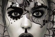 dessin esquisse noir et blanc