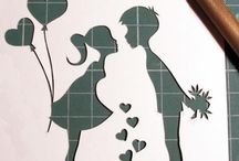 girl and boy / stencil