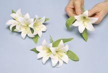 flores manualidades en pastas de azúcar goma porsalicon y otras