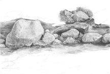 Drawing Rocks and Moutains