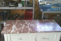 Mijn opgepimpte  meubeltjes. / Brocante meubels chalkpaint Annie Sloan.