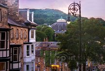 Buxton, Derbyshire / A board to celebrate the Spa Town of Buxton