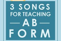 Teaching Musical Form / Songs, activities, and strategies for teaching musical form