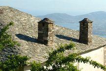 Pilion / Mount Pelion bij de stad Volos in het gebied Magnesia in Griekenland.