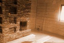 Podręczny skład drewna do kominka / Zabudowa wnęki obok kominka, Skład drewna.