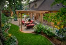 Backyard Re-do / I've lost a lot of my big trees, so the yards are now a blank canvas.  / by gingela