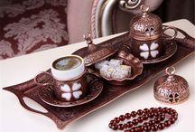 Osmanlı YONCA Motifli 2' Kişilik Kahve Fincanı Seti - Bakır Renk / Osmanlı YONCA Motifli 2' Kişilik Kahve Fincanı Seti - Bakır Renk SADECE : 44.90 TL