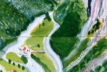 David Hockney - Plaatjes (Landschappen)