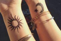 tatoo sole luna