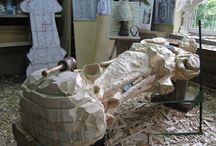 statue legno