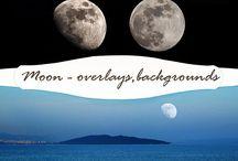 Moon / moon backgrounds, moon photo overlay, moon digital backdrop, digital backgrounds, night sky backgrounds