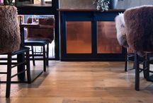 Light brown wood flooring