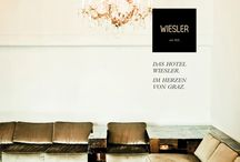 """Hotel Wiesler // Branding by moodley brand identity / The famous Austrian hotel Wiesler – that abandoned its 5 stars by its own choice in 2010 (""""from 5 stars to independance"""") –reinterprets fine memories of past years in a modern way: The new CI of the location built in the centre of Graz in the early 1900s combines tradition with contemporary luxury and Art Nouveau with soul. In this refreshing flair the hotel residents are pampered by thoughtful little details free of formal pomp. More: http://www.moodley.at/en/portfolio/branding/wiesler.html"""