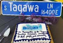 Tagawa Lane!!!! / Centennial's newest street sign, presented to the Tagawa family by Mayor Cathy Noon and Tagawa Gardens staff!