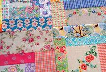 Repurposed linen quilt / Scrap quilt