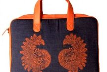 Laptop Bags / Designer handcrafted, block printed laptop bags by Indian Artists