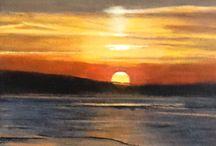 Coucher de soleil / Peinture acrylique