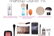 makeup starter kit/ tips & tricks / makeup ideas for beginners
