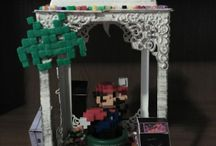 Videogames centerpiece / This is the decoration I used to decorate one of the tables on my themed wedding