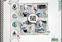 Scrapbook inspiration - Digital layouts