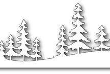 Fresh Pine Landscape Memory Box
