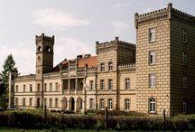 Gościeszyn - Pałac / Pałac w Gościeszynie powstał w latach 1904-11, dla rodziny Kurnatowskich, w wyniku przebudowy dworu zbudowanego po 1740 roku przez Malczewskich i rozbudowanego w drugiej połowie XIX wieku przez Mielżyńskich. Przez lata w pałacu mieścił się dom dziecka. Po przeniesieniu dzieci do nowego budynku syn hrabiego dr Jacek Kurnatowski podjął starania o zwrot rodzinnego majątku. Obecnie uprawomocniła się decyzja wojewody wielkopolskiego w sprawie zwrotu pałacu na rzecz spadkobierców.