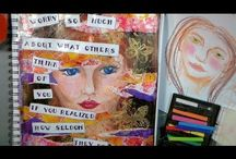 Art Journaling Faces