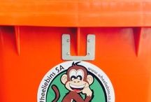 Wheeliebin Monkey lock / Wheeliebin Monkeylocks made by Wheeliebins SA (Pty) Ltd. www.wheeliebins.co.za Email:  sales@wheeliebins.co.za.