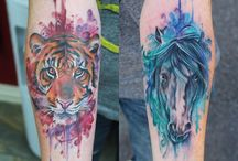 tattoo horse watercolor