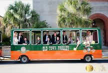 Trolleys for Guest Arrival / Trolleys are a perfect way for guests to see Historic St. Augustine-the Destination you have chosen for your wedding!