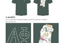 State / Greek sorority and fraternity custom shirt designs featuring state themes. For more information on screen printing or to get a proof for your next shirt order, visit www.jcgapparel.com
