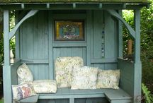 Garden benches / Inspiration for garden benches and other garden furniture