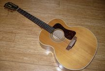 """Guild 12-String Guitar Repair / Guild 12-String Guitar that fell off a wall hanger. The rectangular hole was about 7"""" long and 1 1/2"""" wide. It was necessary to bend a new piece of maple into a matching curve, and then cut, shape, fit, glue, tint and finish the new patch. Check it out!"""