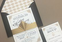 Art Deco Wedding Invites / Wedding Invitations