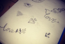 My own doodles! / My own stuff.