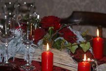 Dekoracja stołu walentynkowego / Deoracja stołu. Aranżacja walentynkowa