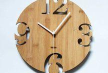 Фанера - часы