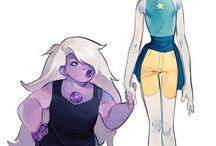 Pearl ♡ Amethyst Steven universe / Don't like, don't look.