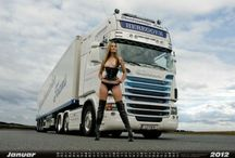 Camion et pin up