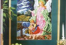 Svatí, madonky a andělé / Vyšívání