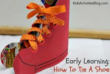 Learning to tie shoelaces / by Crystal Davis