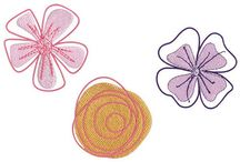 Embroidery designs flowers