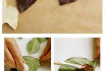 csokoládévirágok levelek / csoki formázás