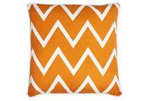 Vibrant Orange/ Natural Wood Furniture