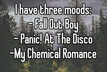 Bandom and Emo Culture / Band fandoms, punk rock, alternative rock, metal, screamo etc. My Chemical Romance, Panic! At The Disco, Fall Out Boy, Black Veil Brides, Pierce The Veil, and everything Emo.