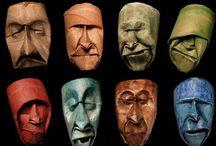 7th Grade Sculptural Masks