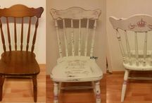 Befor & after chalk paint
