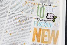 Journaling Bible / Journalling scripture