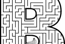 Labyrint på bokstäver